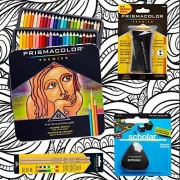 Huhuhero Marco 48 Color Soft Lead Art Colored Pencils With Canvas Pencil Case For Artist Sketching Coloring Drawing Writing