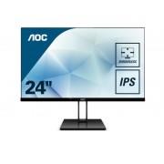 "AOC Value-line 24V2Q pantalla para PC 60,5 cm (23.8"") Full HD LED Plana Mate Negro"
