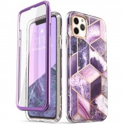 Carcasa stylish Supcase Cosmo iPhone 11 Pro cu protectie display, Purple