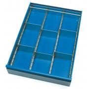 Fetra Schubladen-Einteilungs-Set aus verzinktem Stahlblech