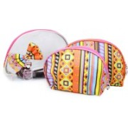 Tied Ribbons Set of 3 Multipurpose Cosmetic Toiletries Travel Pouch Kit for Women Travel Toiletry Kit(Multicolor)