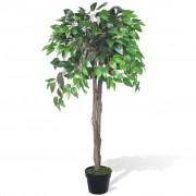 vidaXL Artificial Plant Ficus Tree with Pot 110 cm