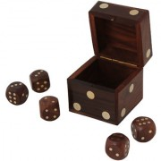 Craft Art India Handmade Wooden Indoor Game Dice In Dice Set - 4 Inches Cai-Hd-0044-A