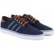 ADIDAS SEELEY Men Skateboarding Shoes For Men(Blue, Brown)