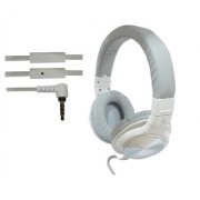 ha wired abs HWKC520 headphone White with Silver
