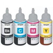 Original Epson Ink All Colors (T6641-B T6642-C T6643-M T6644-Y) 70 Ml Each For L100/L110/L200/L210/L300/L350/L355/L550