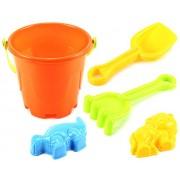 Beach Castle Bucket Children's Kid's Toy Beach/Sandbox Playset w/ Bucket, Hand Tools, Sand Molds (Colors May Vary)