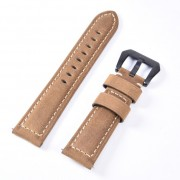 Split Leather Watch Band with Black Big Buckle for Huawei Watch GT - Light Brown