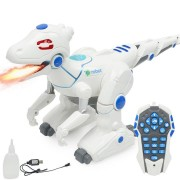Electric Dancing Remote Dinosaur Robot With Light Animal Model Toy For Kids Children Christmas Gift
