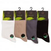 """RuSocks Комплект из 5 пар бамбуковых мужских носков с узором черного цвета """"RuSocks"""" M-410 распродажа"""