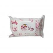 Servetele umede Belux roz cu capac 72 file.