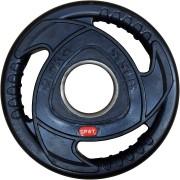 Диск за щанга гумиран Ø50 мм. 2.5 кг. с метален пръстен