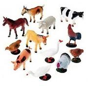Babytintin™ Animals Figures Set for Kids - Medium (Pack of 12) (Farm Animal)