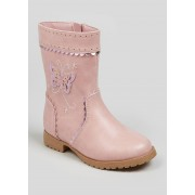 Matalan Girls Butterfly Knee Boots (Younger 4-12) in Size 11 Infants, Pink