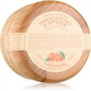 Mondial Luxury Wooden Bowl cremă pentru bărbierit Mandarine and Spice 140 ml