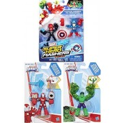 Super Hero Mashers figures Avengers Captain America & Red Skull Micro 2-Pack & Marvel Iron Man & Gamma Fist Hulk Action Adventures
