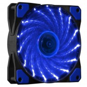 FAN, MAKKI 120mm, 1100rpm, 15 BLUE LED lights (MAKKI-FAN120-15BL)