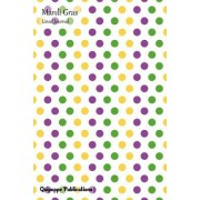 """Mardi Gras Lined Journal: Medium Lined Journaling Notebook, Mardi Gras Zigzag Bubbles Cover, 6x9,"""" 130 Pages"""