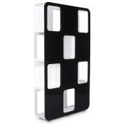 Etagère design 'DOMINO' en bois noir et blanc