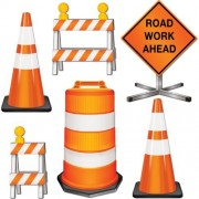 """Beistle 54376 Road Crew Cutouts, 11""""-18"""", 6 Pack"""