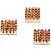 Set of 3 copper heatsinks for Raspberry