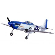 "Mustang P51D Warbird 2.4Ghz 4CH 29.5"" WingSpan RC Airplane RTF P-51D Brushed EP Plane 768-1A by Poco Divo"