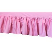 Cearceaf patut cu volanas, roz, 120x60 cm