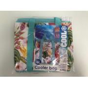 Cooler tas - met wit en bloemen