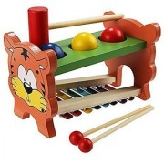 Arshiner Wooden Toys Pound And Tap Tap Bench with Slide out Xylophone Kids Wooden Educational Development Music Toy