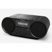 Sony Radiograbadora ZS-RS60BT, AM/FM, 4W, Bluetooth, MP3, Negro