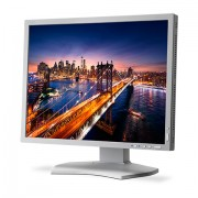 NEC MultiSync P212 white 21.3' LCD monitor with LED backlight, IPS panel, 1600x1200, VGA, DVI-D, DisplayPort, HDMI, DUC, 14-bit LUT, 150mm height adjustable