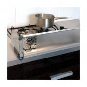 Grilaj protectie din aluminiu plita aragaz BebeduE, ajustabil 60-90 cm, Gri/Argintiu