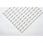 PVC-Profilmatte, pro lfd. m Lauffläche aus Hart-PVC, rutschsicher Breite 1000 mm, weiß