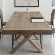 LA SEGGIOLA Table repas extensible GALILEO 90x180/280cm chêne