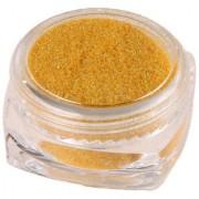 Nail Glitter Powder Magic Mirror Chrome Nail Art Decoration With Free Nail Brush - Gold