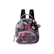 Luv Betsey by Betsey Johnson Sage Clear Mini Donut Cat Print Backpack ClearLavender