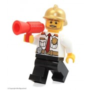 LEGO City MiniFigure: Fire Chief (Gold Fire Helmet) From Set 60088