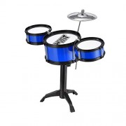 HATCHMATIC Children' s Drums Beginners Drum Kit Early Educational Toys Exercise Child Hands-On Ability Coordination Holiday Gifts: Blue A