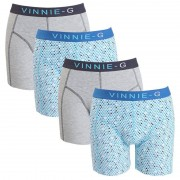 Vinnie-G boxershorts Blue Sky Light - Print 4-pack