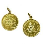 Saraswati Yantra Kavach Pendant Gold Plated