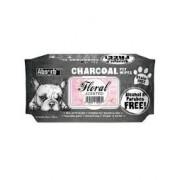 Charcoal Pet WET Wipes, FLORAL- pachet 80 buc