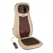 KLARFIT Nukuoro Massage-Sitzauflage Shiatsu-Massage 3 Massagezonen braun