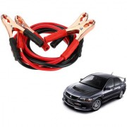 Auto Addict Premium Quality Car 500 Amp Heavy Duty Copper Core Tangle Battery Booster Cable 7.5 Ft For Mitsubishi Lancer