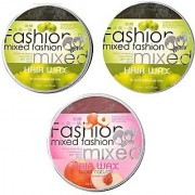 mix box apple-1 and green-2 combo pack of 3 infinity hair wax for men