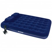 Bestway Inflatable Flocked Airbed Pillow Air Pump 203x152x22cm 67374
