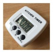 Cocina Temporizador Electrónico Digital Alarma Fuerte Respaldo Magnético Con El Titular Para Cocinar, Hornear Juegos Deportivos Oficina Dial (negro)