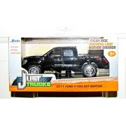 Black Jada Just Trucks 5-inch 2011 Ford F-150 SVT Raptor Pickup 1/32 Scale Truck with Pullback Actio