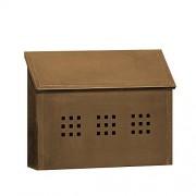 Salsbury Industries 4415 buzón de correo decorativo horizontal, estilo montado en la superficie, latón envejecido