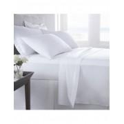 Juegos de sábanas 100% algodón percal blanco de 200 hilos
