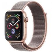 Apple SmartWatch APPLE Watch Series 4 Koperta 40 mm z aluminium w kolorze złotym z opaską sportową w kolorze piaskowego różu MU692WB/A